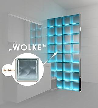 Duschabtrennung glasbausteine  LMW Light My Wall beleuchtete Glassteinwand aus Glasbausteinen in ...
