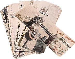 Segolike Pack of 30 Retro World Scenery Landscape Paper Bookmark School office Supplies