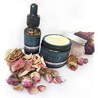 Set regalo per crema e siero di rose e incenso - 100% naturale, vegano, idratante, antinvecchiamento e senza crudeltà