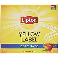 Lipton Yellow Label Deteinato, Confezione da 50 Filtri