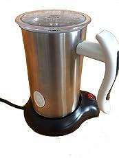 Milchaufschäumer elektrisch,warm und kalt, 250 ml,500 Watt, Aufschäumen, Edelstahl/weiß, Milchschäumer, Designed in Deutschland, tolles Geschenk, mit Wärmeplatte, Milk frother
