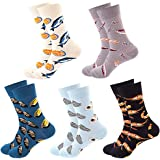 JPYH Coloridos Calcetines para Hombres, Calcetines de Vestir Divertidos, Calcetines de Oficina de Algodón con Estampados Dive
