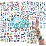 SnailGarden 300 Piezas de Tatuajes Temporales de Mar para Niños,Fake Impermeable Etiqueta Engomada del Tatuaje para Niños Niñ