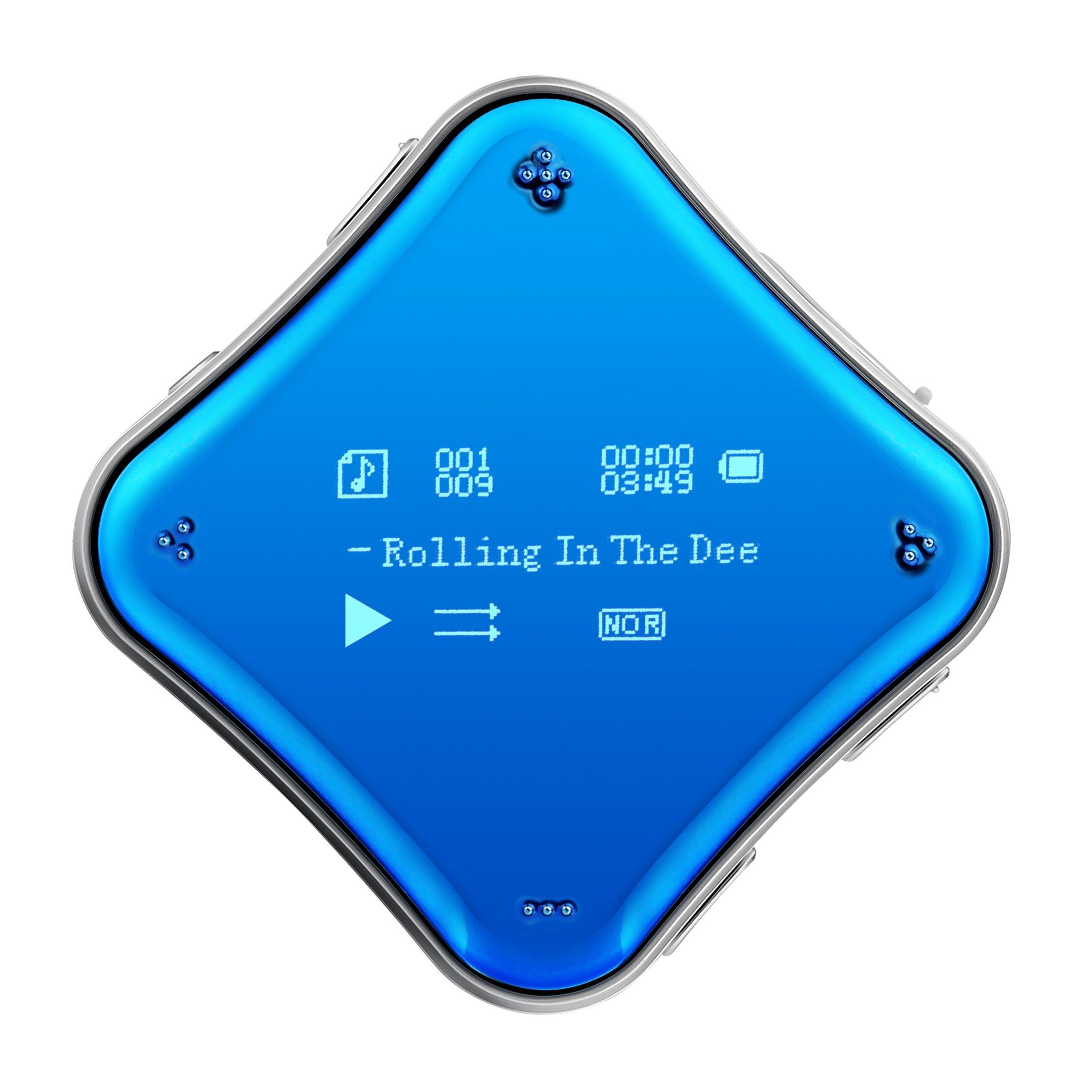 COOSA 8GB MP3 Player / 0.96 Schermo OLED lettore MP3 / 360 ° liberamente ruotabile Sport Clip / Mus