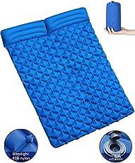 tqgold Camping Isomatte mit Kissen Ultraleichte Camping Matratze Aufblasbare Luftmatratze Schlafmatte für Backpacking, Reise, Outdoor, Wandern, Strand,Zelt