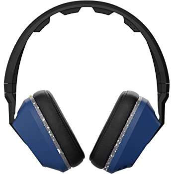Skullcandy S6SCGY-442 Crusher Over-Ear Headphone with Mic (Black Blue and Gray)