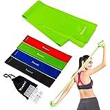Yoassi 4 + 1 fitnessbandenset, Loop Terra Band Theraband weerstandsbanden, weerstandsbanden, lange fitnessband, rubberen trai