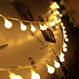 Christmas Battery Fairy Lights, GreenClick 40 LED Globe String Lights with Timer, Waterproof Decorative Light for Indoor…