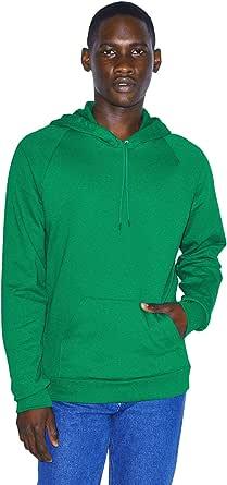 American Apparel Men's California Fleece Long Sleeve Pullover Hoodie Hooded Sweatshirt