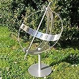 Gartentraum Äquatoriale Sonnenuhr aus Edelstahl - Milenium-1