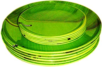 Smart Dinning Banana Leaf Pack of 12 plate Set Dinner set Limited Edition