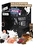 Salz & Pfeffer Adventskalender Weihnachtskalender mit 24 Natursalzen & Naturpfeffern Salz Kalender als Geschenk für…