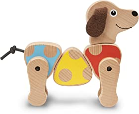 Melissa and Doug Puppy Wooden Grasping Toy for Baby, Multi Color