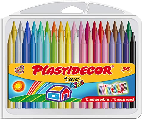 Bic Plastidecor - Ceras de colores, pack de 12
