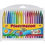 BIC Kids Plastidecor - Estuche de 36 unidades, ceras de colores surtidos - ideal para colorear y dibujar, actividades creativ
