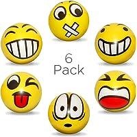 Anti Stress - Balle Anti-Stress - 6pcs Emoji Visage - Enfant - Boule Antistress - Adulte - Jouet