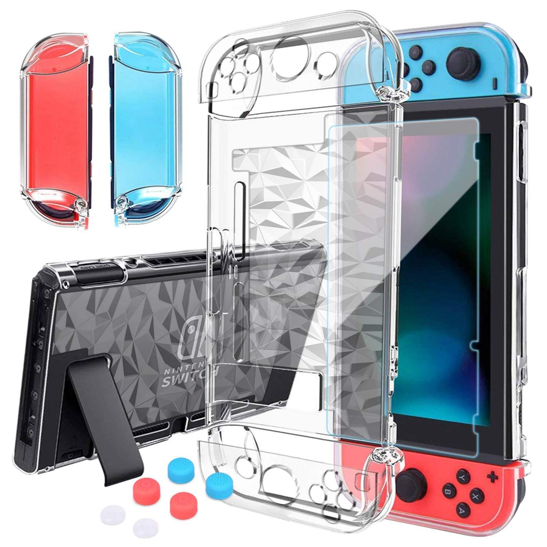 HEYSTOP Carcasa Nintendo Switch, Funda Nintendo Switch con Protector de Pantalla