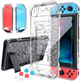 HEYSTOP Nintendo Switch Case Dockable Clear Protective Case Cover for Nintendo Switch And Joycon Controller with a Switch Tem
