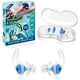 Hearprotek 2 Paare Schwimmer Ohrstöpsel, Verbessertes Silikon Passgenauer Wasserschutz Schwimmohrstöpsel für Schwimmer Becken