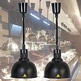WDSZXH Lampe Chauffe-Plats, Lampe de Chauffante des Aliments pour Buffet et Restaurant, Lampe Chauffante pour Pizza et Steak,