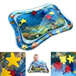 SNOWIE SOFT Baby Inflatable Water Cushion, Inflatable Infant Baby Water Mat Patted Pad - Fun Activity Play Center for...