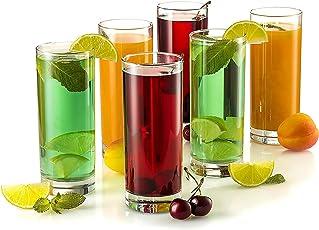 Classvilla Jony Unbreakable Drinking Glasses | Food Grade Fibre | Set of 6 | Crystal Clear | 350ML