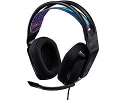 Logitech G335 Auriculares con Cable para Gaming, Micrófono Volteable, Jack de 3.5mm, Almohadillas de espuma viscoelástica, co
