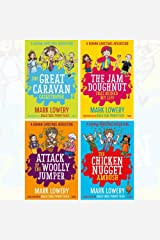 Roman Garstang Disasters Collection 4 Books Set By Mark Lowery (The Great Caravan Catastrophe, The Jam Doughnut That Ruined My Life, Attack of the Woolly Jumper, The Chicken Nugget Ambush) Paperback
