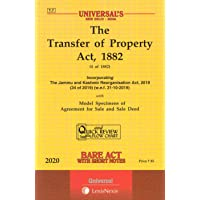 The Transfer of Property Act, 1882 -Bare Act with Short Notes