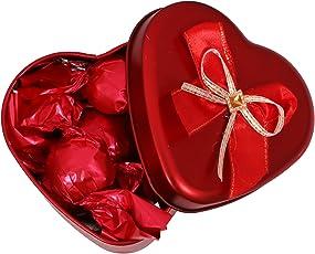 Skylofts Stylish Valentine Chocolate Love Heart Tin Gift Pack (63gms Small)