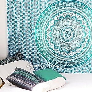 Klein Einzelbett Mandala Ombre Wandbehang