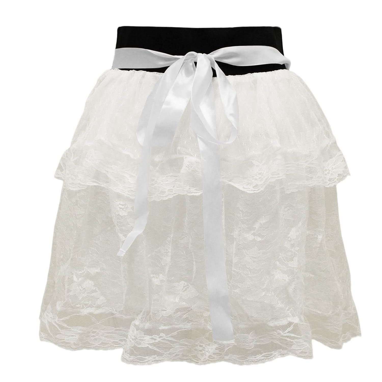 WOMENS LADIES LACE MESH LOLITA DANCING LAYERED TUTU GIRLS PETTICOAT MINI  SKIRT: Amazon.co.uk: Clothing