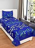 P PRIDHI Cotton 144 TC Bedsheet (Standard_Blue)
