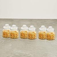 Home Centre Marley-Mimosa Storage Jar Set - 6 Pcs (650 ml) - Transparent