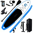 FunWater Inflatable Stand Up Paddle Board 11'x33''x6'' Ultra-Light Paddleboard with Inflatable SUP Accessories,Three Fins,Adj