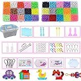 Queta Juego de Cuentas de Agua, 4800pcs 30 Colores Kit de Abalorios de Agua para Niños, Craft Cristal Cuenta Adhesiva para Re