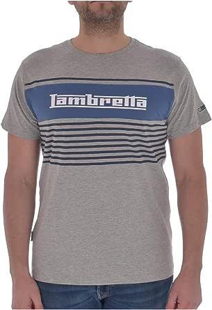 Lambretta Mens Panel Stripe Short Sleeve Crew Neck T-Shirt