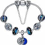 Presentski Charms argento placcato regalo di giorno di Charm Bracelet Compleanno Madre