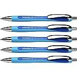 Schneider Slider Rave XB Ballpoint Pen, Box of 5, Blue (132503)