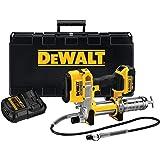 DeWalt 4 Ah batteri/bil fettpress (18 V, med filter, lätt fyllning, enkel hantering, 1 m slang, ljus LED, högt arbetstryck) D