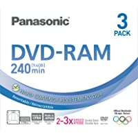 Panasonic 3x speed, 9.4GB, double sided 3 pack DVD-RAM Disc