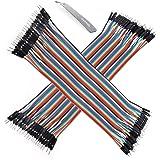 Ganvol 80 STK. Jumper Kabel mit Buntem Draht (Male to Male) für Arduino Raspberry Pi