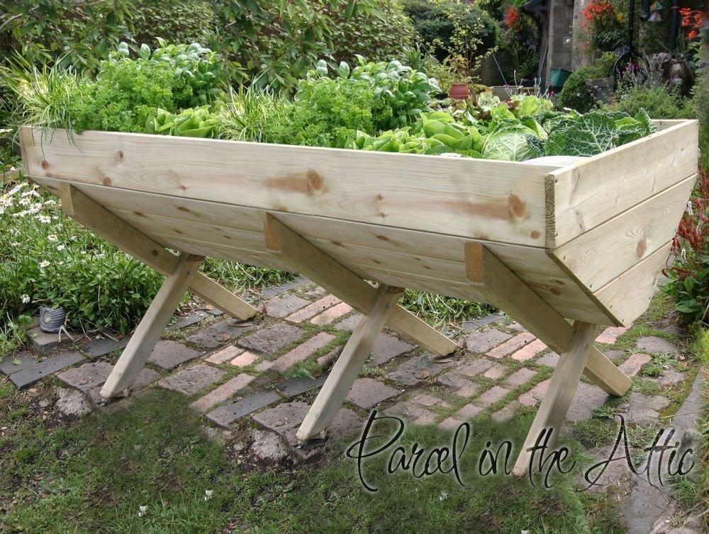 Large Garden Wooden Raised Bed Vegetable Trough Planter (Deep Root Planter  1.8m): Amazon.co.uk: Garden U0026 Outdoors