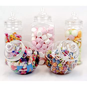 Plastic Jar Party Pack 10 Assorted Jars Amazon Kitchen Home
