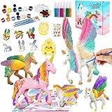 Kits de Pintura de Unicornio para Niños Pintar Juego, Niños Unicornio Artes y Manualidades Creativo Juguete Cumpleaños Navida