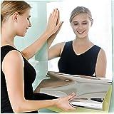 Jiechang Flexibele spiegel voor wand, zelfklevende spiegeltegels, geen glas, zacht spiegelpapier voor woondecoratie