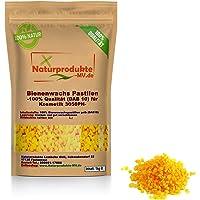 100% Bienenwachs Pastillen gelb Kosmetik (1 kg) pharmazeutische Qualität (Ph.Eur./DAB10) Bienenwachspastillen Granulat…