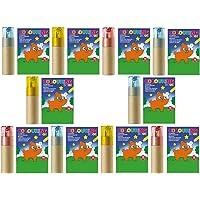sin4sey Lot de 10 crayons de couleur avec taille-crayon pour enfants, mariage, restaurant, fête, anniversaire d'enfant…