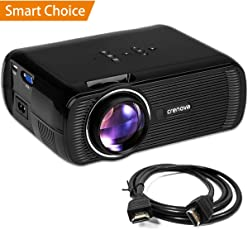 Crenova XPE460 LED Video Home Projector with HDMI Support 1080P for Home Cinema Theater TV Laptop Game SD iPad iPhone Android Smartphone-White