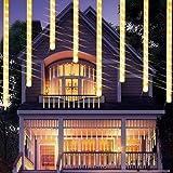 Luces de Navidad de Lluvia Mejoradas, Luces de Ducha de Meteoritos IP65 Impermeables con 11.8 Pulgadas 8 Tubos 240 LED, Luces